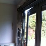 Plastering Around Bi-Folding Doors in Bury