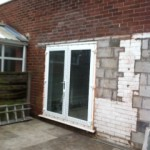 Wall Before Rendering in Chadderton, Oldham